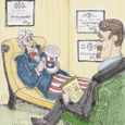 Uncle Sam on the couch