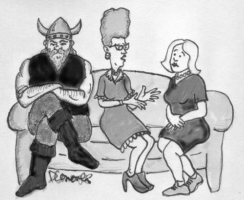 Viking on the couch